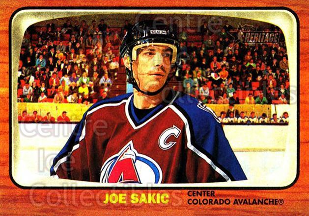 2002-03 Topps Heritage #34 Joe Sakic<br/>5 In Stock - $2.00 each - <a href=https://centericecollectibles.foxycart.com/cart?name=2002-03%20Topps%20Heritage%20%2334%20Joe%20Sakic...&quantity_max=5&price=$2.00&code=436069 class=foxycart> Buy it now! </a>