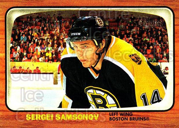 2002-03 Topps Heritage #35 Sergei Samsonov<br/>5 In Stock - $1.00 each - <a href=https://centericecollectibles.foxycart.com/cart?name=2002-03%20Topps%20Heritage%20%2335%20Sergei%20Samsonov...&quantity_max=5&price=$1.00&code=436070 class=foxycart> Buy it now! </a>