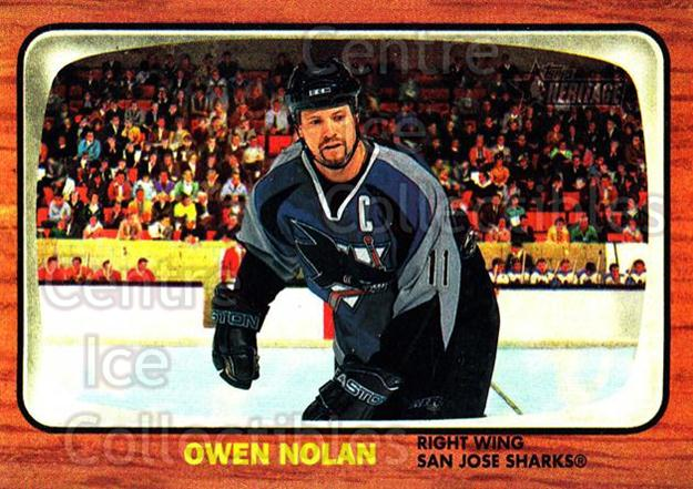 2002-03 Topps Heritage #44 Owen Nolan<br/>6 In Stock - $1.00 each - <a href=https://centericecollectibles.foxycart.com/cart?name=2002-03%20Topps%20Heritage%20%2344%20Owen%20Nolan...&quantity_max=6&price=$1.00&code=436079 class=foxycart> Buy it now! </a>