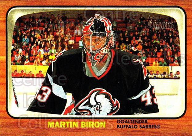2002-03 Topps Heritage #46 Martin Biron<br/>4 In Stock - $1.00 each - <a href=https://centericecollectibles.foxycart.com/cart?name=2002-03%20Topps%20Heritage%20%2346%20Martin%20Biron...&quantity_max=4&price=$1.00&code=436081 class=foxycart> Buy it now! </a>
