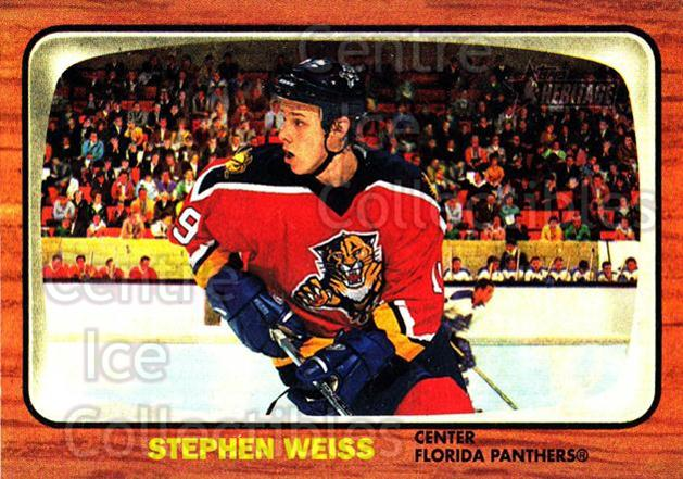 2002-03 Topps Heritage #55 Stephen Weiss<br/>5 In Stock - $1.00 each - <a href=https://centericecollectibles.foxycart.com/cart?name=2002-03%20Topps%20Heritage%20%2355%20Stephen%20Weiss...&quantity_max=5&price=$1.00&code=436090 class=foxycart> Buy it now! </a>