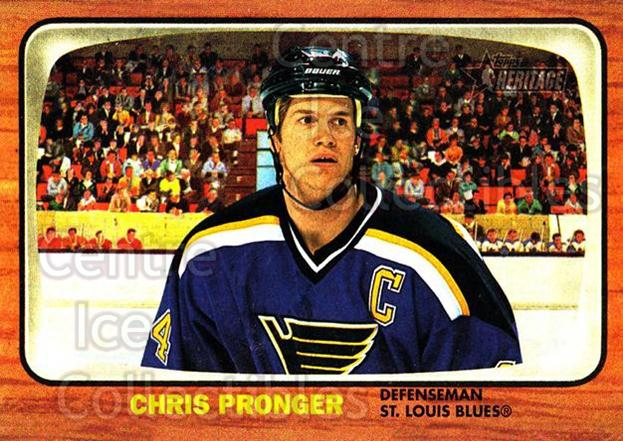 2002-03 Topps Heritage #58 Chris Pronger<br/>6 In Stock - $1.00 each - <a href=https://centericecollectibles.foxycart.com/cart?name=2002-03%20Topps%20Heritage%20%2358%20Chris%20Pronger...&quantity_max=6&price=$1.00&code=436093 class=foxycart> Buy it now! </a>