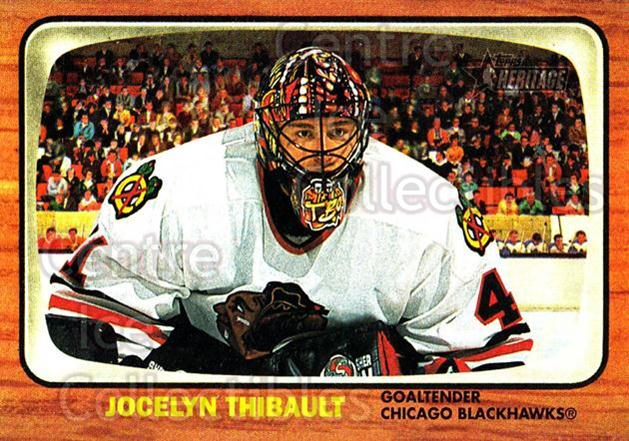 2002-03 Topps Heritage #61 Jocelyn Thibault<br/>6 In Stock - $1.00 each - <a href=https://centericecollectibles.foxycart.com/cart?name=2002-03%20Topps%20Heritage%20%2361%20Jocelyn%20Thibaul...&quantity_max=6&price=$1.00&code=436096 class=foxycart> Buy it now! </a>