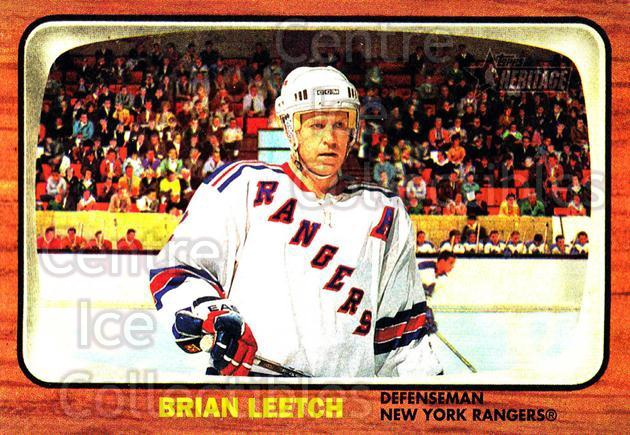2002-03 Topps Heritage #89 Brian Leetch<br/>6 In Stock - $1.00 each - <a href=https://centericecollectibles.foxycart.com/cart?name=2002-03%20Topps%20Heritage%20%2389%20Brian%20Leetch...&quantity_max=6&price=$1.00&code=436124 class=foxycart> Buy it now! </a>