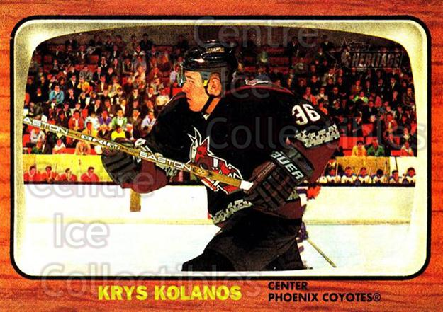 2002-03 Topps Heritage #92 Krys Kolanos<br/>5 In Stock - $1.00 each - <a href=https://centericecollectibles.foxycart.com/cart?name=2002-03%20Topps%20Heritage%20%2392%20Krys%20Kolanos...&quantity_max=5&price=$1.00&code=436127 class=foxycart> Buy it now! </a>