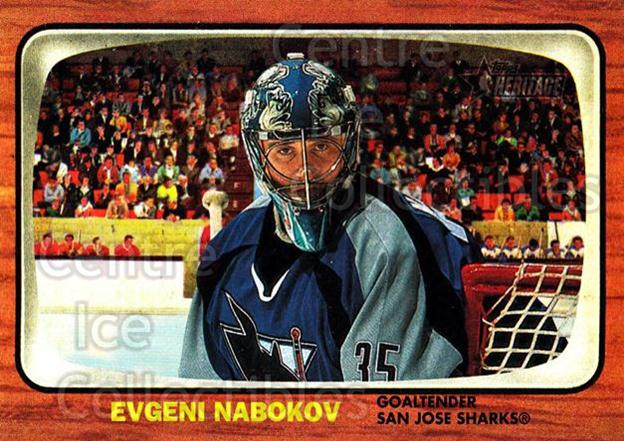 2002-03 Topps Heritage #98 Evgeni Nabokov<br/>4 In Stock - $1.00 each - <a href=https://centericecollectibles.foxycart.com/cart?name=2002-03%20Topps%20Heritage%20%2398%20Evgeni%20Nabokov...&quantity_max=4&price=$1.00&code=436133 class=foxycart> Buy it now! </a>