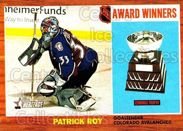 2002-03 Topps Heritage #102 Patrick Roy<br/>2 In Stock - $2.00 each - <a href=https://centericecollectibles.foxycart.com/cart?name=2002-03%20Topps%20Heritage%20%23102%20Patrick%20Roy...&quantity_max=2&price=$2.00&code=436137 class=foxycart> Buy it now! </a>