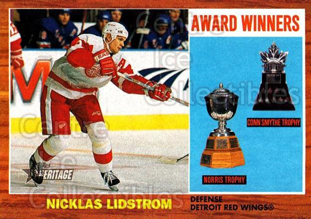2002-03 Topps Heritage #104 Nicklas Lidstrom<br/>3 In Stock - $1.00 each - <a href=https://centericecollectibles.foxycart.com/cart?name=2002-03%20Topps%20Heritage%20%23104%20Nicklas%20Lidstro...&quantity_max=3&price=$1.00&code=436139 class=foxycart> Buy it now! </a>