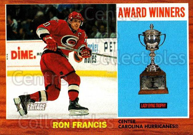 2002-03 Topps Heritage #107 Ron Francis<br/>5 In Stock - $1.00 each - <a href=https://centericecollectibles.foxycart.com/cart?name=2002-03%20Topps%20Heritage%20%23107%20Ron%20Francis...&quantity_max=5&price=$1.00&code=436142 class=foxycart> Buy it now! </a>