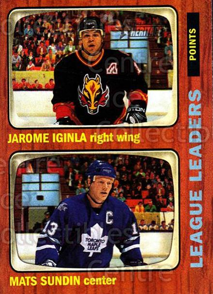 2002-03 Topps Heritage #108 Jarome Iginla, Mats Sundin<br/>5 In Stock - $1.00 each - <a href=https://centericecollectibles.foxycart.com/cart?name=2002-03%20Topps%20Heritage%20%23108%20Jarome%20Iginla,%20...&quantity_max=5&price=$1.00&code=436143 class=foxycart> Buy it now! </a>