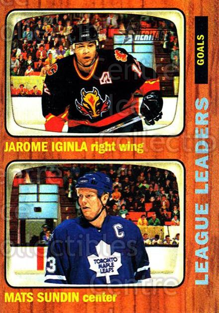 2002-03 Topps Heritage #109 Jarome Iginla, Mats Sundin<br/>6 In Stock - $1.00 each - <a href=https://centericecollectibles.foxycart.com/cart?name=2002-03%20Topps%20Heritage%20%23109%20Jarome%20Iginla,%20...&quantity_max=6&price=$1.00&code=436144 class=foxycart> Buy it now! </a>