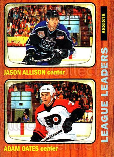 2002-03 Topps Heritage #110 Jason Allison, Adam Oates<br/>6 In Stock - $1.00 each - <a href=https://centericecollectibles.foxycart.com/cart?name=2002-03%20Topps%20Heritage%20%23110%20Jason%20Allison,%20...&quantity_max=6&price=$1.00&code=436145 class=foxycart> Buy it now! </a>
