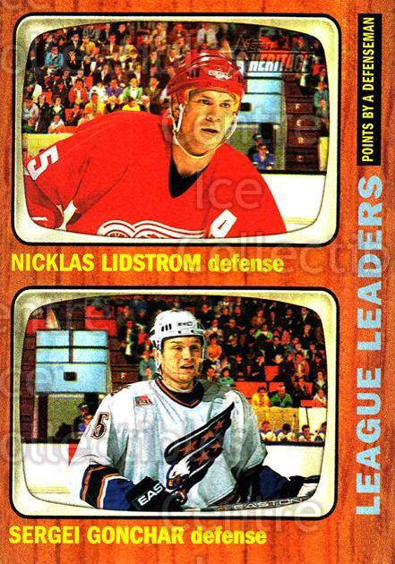 2002-03 Topps Heritage #113 Nicklas Lidstrom, Sergei Gonchar<br/>3 In Stock - $1.00 each - <a href=https://centericecollectibles.foxycart.com/cart?name=2002-03%20Topps%20Heritage%20%23113%20Nicklas%20Lidstro...&quantity_max=3&price=$1.00&code=436148 class=foxycart> Buy it now! </a>