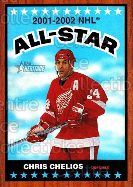 2002-03 Topps Heritage #122 Chris Chelios<br/>3 In Stock - $1.00 each - <a href=https://centericecollectibles.foxycart.com/cart?name=2002-03%20Topps%20Heritage%20%23122%20Chris%20Chelios...&quantity_max=3&price=$1.00&code=436157 class=foxycart> Buy it now! </a>