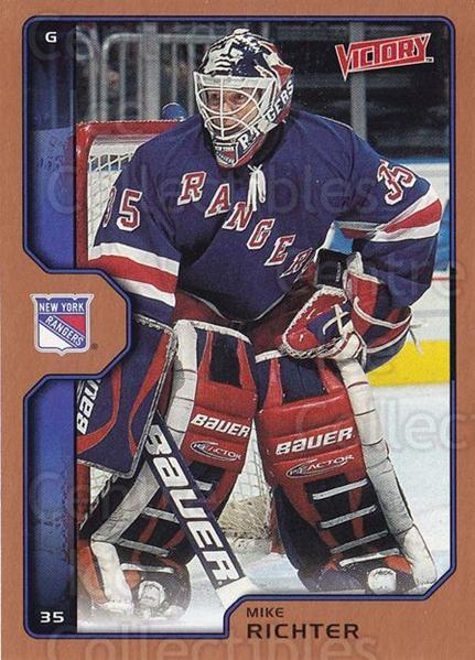 2002-03 UD Victory Bronze #145 Mike Richter<br/>1 In Stock - $2.00 each - <a href=https://centericecollectibles.foxycart.com/cart?name=2002-03%20UD%20Victory%20Bronze%20%23145%20Mike%20Richter...&quantity_max=1&price=$2.00&code=436368 class=foxycart> Buy it now! </a>