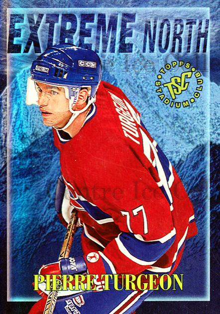 1995-96 Stadium Club Extreme North #7 Pierre Turgeon<br/>4 In Stock - $3.00 each - <a href=https://centericecollectibles.foxycart.com/cart?name=1995-96%20Stadium%20Club%20Extreme%20North%20%237%20Pierre%20Turgeon...&quantity_max=4&price=$3.00&code=43644 class=foxycart> Buy it now! </a>