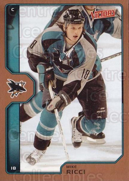 2002-03 UD Victory Bronze #181 Mike Ricci<br/>1 In Stock - $2.00 each - <a href=https://centericecollectibles.foxycart.com/cart?name=2002-03%20UD%20Victory%20Bronze%20%23181%20Mike%20Ricci...&quantity_max=1&price=$2.00&code=436453 class=foxycart> Buy it now! </a>