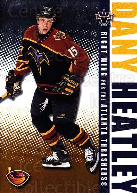 2002-03 Vanguard #5 Dany Heatley<br/>3 In Stock - $1.00 each - <a href=https://centericecollectibles.foxycart.com/cart?name=2002-03%20Vanguard%20%235%20Dany%20Heatley...&quantity_max=3&price=$1.00&code=436980 class=foxycart> Buy it now! </a>