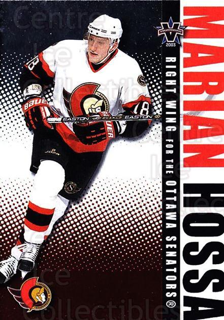 2002-03 Vanguard #70 Marian Hossa<br/>3 In Stock - $1.00 each - <a href=https://centericecollectibles.foxycart.com/cart?name=2002-03%20Vanguard%20%2370%20Marian%20Hossa...&quantity_max=3&price=$1.00&code=437045 class=foxycart> Buy it now! </a>