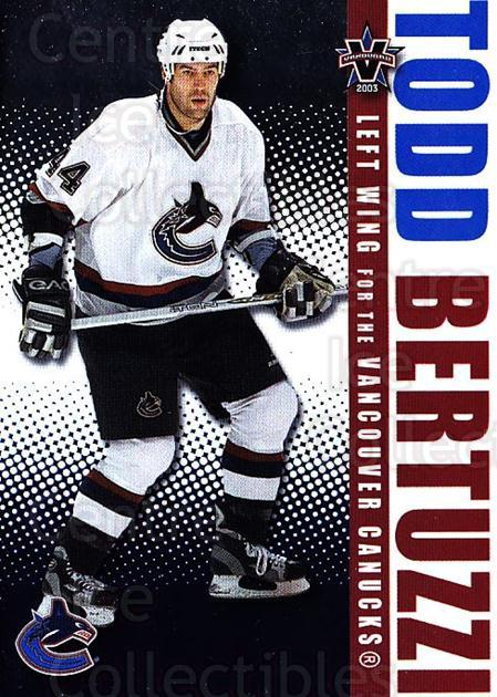 2002-03 Vanguard #94 Todd Bertuzzi<br/>3 In Stock - $1.00 each - <a href=https://centericecollectibles.foxycart.com/cart?name=2002-03%20Vanguard%20%2394%20Todd%20Bertuzzi...&quantity_max=3&price=$1.00&code=437069 class=foxycart> Buy it now! </a>