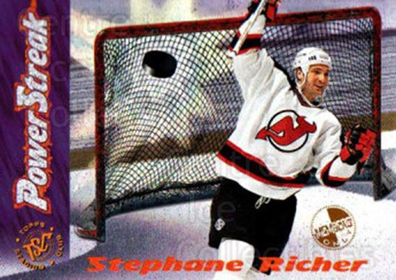 1995-96 Stadium Club Power Streak Members Only #10 Stephane Richer<br/>8 In Stock - $3.00 each - <a href=https://centericecollectibles.foxycart.com/cart?name=1995-96%20Stadium%20Club%20Power%20Streak%20Members%20Only%20%2310%20Stephane%20Richer...&quantity_max=8&price=$3.00&code=43709 class=foxycart> Buy it now! </a>
