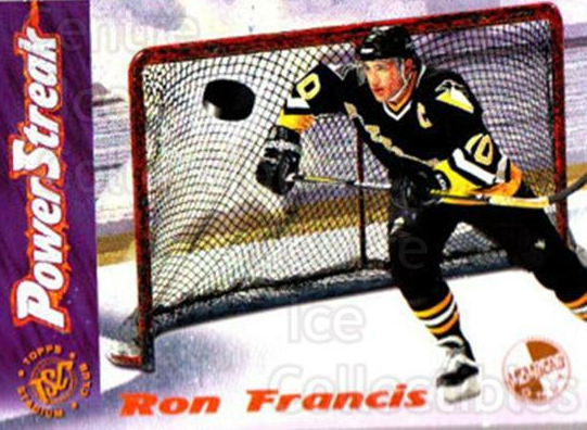 1995-96 Stadium Club Power Streak Members Only #3 Ron Francis<br/>6 In Stock - $5.00 each - <a href=https://centericecollectibles.foxycart.com/cart?name=1995-96%20Stadium%20Club%20Power%20Streak%20Members%20Only%20%233%20Ron%20Francis...&quantity_max=6&price=$5.00&code=43710 class=foxycart> Buy it now! </a>