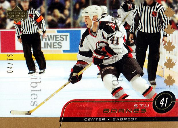 2002-03 Upper Deck UD Exclusives #263 Stu Barnes<br/>2 In Stock - $5.00 each - <a href=https://centericecollectibles.foxycart.com/cart?name=2002-03%20Upper%20Deck%20UD%20Exclusives%20%23263%20Stu%20Barnes...&quantity_max=2&price=$5.00&code=437393 class=foxycart> Buy it now! </a>