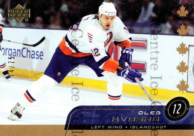 2002-03 Upper Deck UD Exclusives #357 Oleg Kvasha<br/>1 In Stock - $5.00 each - <a href=https://centericecollectibles.foxycart.com/cart?name=2002-03%20Upper%20Deck%20UD%20Exclusives%20%23357%20Oleg%20Kvasha...&quantity_max=1&price=$5.00&code=437534 class=foxycart> Buy it now! </a>