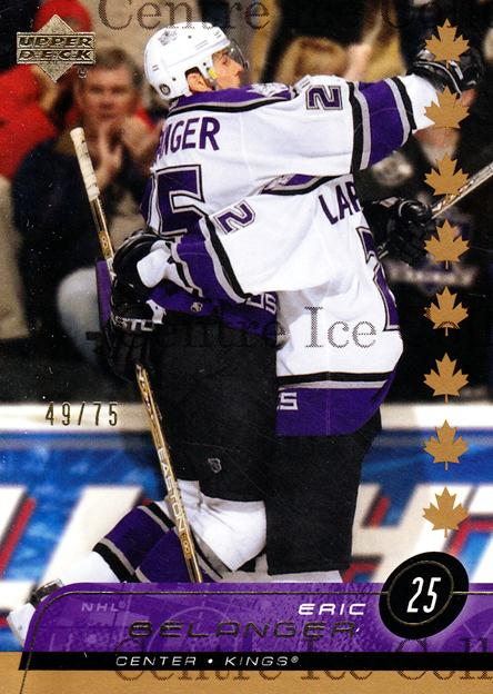 2002-03 Upper Deck UD Exclusives #84 Eric Belanger<br/>1 In Stock - $5.00 each - <a href=https://centericecollectibles.foxycart.com/cart?name=2002-03%20Upper%20Deck%20UD%20Exclusives%20%2384%20Eric%20Belanger...&quantity_max=1&price=$5.00&code=437668 class=foxycart> Buy it now! </a>