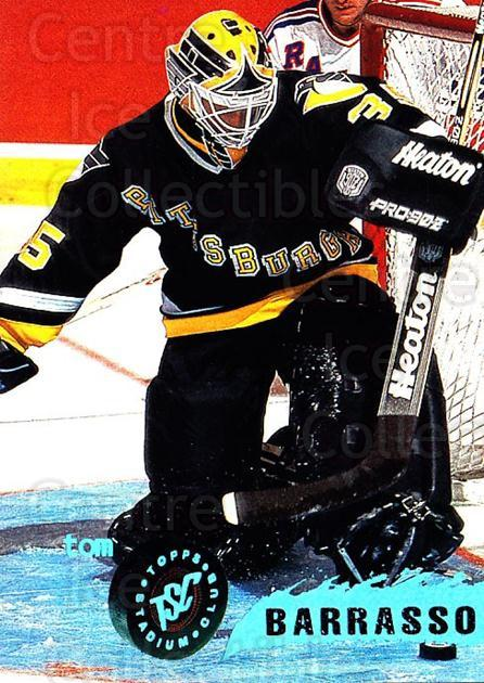 1995-96 Stadium Club #158 Tom Barrasso<br/>4 In Stock - $1.00 each - <a href=https://centericecollectibles.foxycart.com/cart?name=1995-96%20Stadium%20Club%20%23158%20Tom%20Barrasso...&price=$1.00&code=43785 class=foxycart> Buy it now! </a>