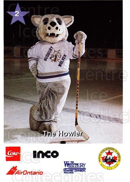 1995-96 Sudbury Wolves Police #2 Mascot<br/>7 In Stock - $3.00 each - <a href=https://centericecollectibles.foxycart.com/cart?name=1995-96%20Sudbury%20Wolves%20Police%20%232%20Mascot...&quantity_max=7&price=$3.00&code=43840 class=foxycart> Buy it now! </a>