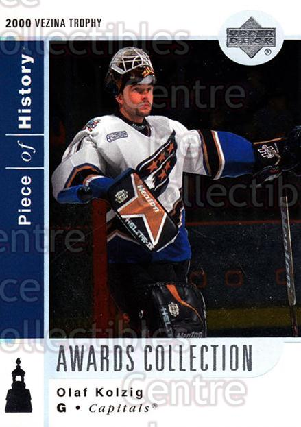 2002-03 UD Piece of History Awards Collection #28 Olaf Kolzig<br/>2 In Stock - $2.00 each - <a href=https://centericecollectibles.foxycart.com/cart?name=2002-03%20UD%20Piece%20of%20History%20Awards%20Collection%20%2328%20Olaf%20Kolzig...&quantity_max=2&price=$2.00&code=438502 class=foxycart> Buy it now! </a>