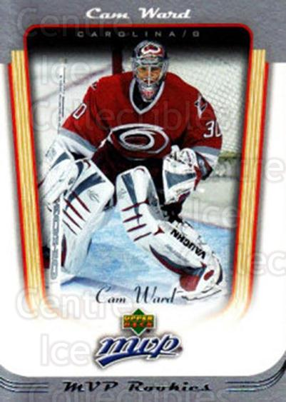 2005-06 Upper Deck MVP #408 Cam Ward<br/>3 In Stock - $5.00 each - <a href=https://centericecollectibles.foxycart.com/cart?name=2005-06%20Upper%20Deck%20MVP%20%23408%20Cam%20Ward...&price=$5.00&code=438514 class=foxycart> Buy it now! </a>