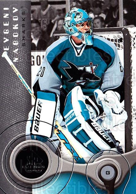 2005-06 Sp Game Used #83 Evgeni Nabokov<br/>2 In Stock - $2.00 each - <a href=https://centericecollectibles.foxycart.com/cart?name=2005-06%20Sp%20Game%20Used%20%2383%20Evgeni%20Nabokov...&quantity_max=2&price=$2.00&code=438602 class=foxycart> Buy it now! </a>