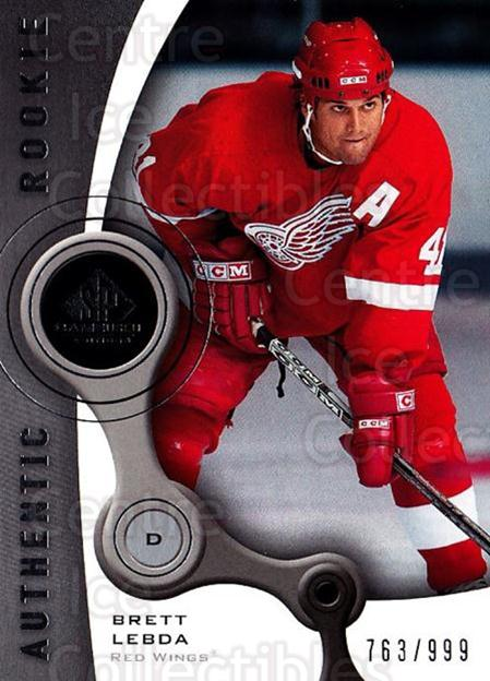2005-06 Sp Game Used #105 Brett Lebda<br/>3 In Stock - $5.00 each - <a href=https://centericecollectibles.foxycart.com/cart?name=2005-06%20Sp%20Game%20Used%20%23105%20Brett%20Lebda...&quantity_max=3&price=$5.00&code=438624 class=foxycart> Buy it now! </a>