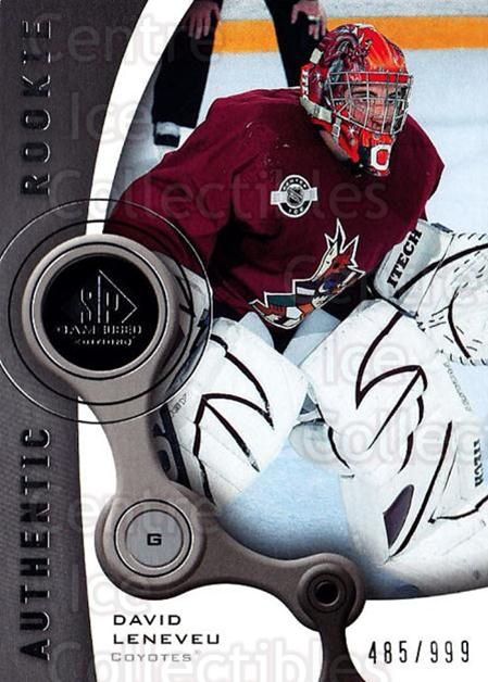 2005-06 Sp Game Used #125 David Leneveu<br/>2 In Stock - $5.00 each - <a href=https://centericecollectibles.foxycart.com/cart?name=2005-06%20Sp%20Game%20Used%20%23125%20David%20Leneveu...&quantity_max=2&price=$5.00&code=438644 class=foxycart> Buy it now! </a>