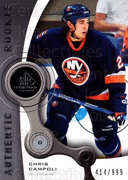 2005-06 Sp Game Used #144 Chris Campoli<br/>2 In Stock - $5.00 each - <a href=https://centericecollectibles.foxycart.com/cart?name=2005-06%20Sp%20Game%20Used%20%23144%20Chris%20Campoli...&quantity_max=2&price=$5.00&code=438663 class=foxycart> Buy it now! </a>