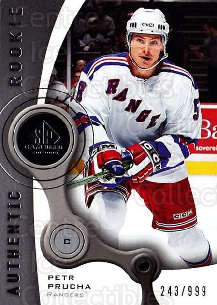 2005-06 Sp Game Used #159 Petr Prucha<br/>2 In Stock - $5.00 each - <a href=https://centericecollectibles.foxycart.com/cart?name=2005-06%20Sp%20Game%20Used%20%23159%20Petr%20Prucha...&quantity_max=2&price=$5.00&code=438678 class=foxycart> Buy it now! </a>