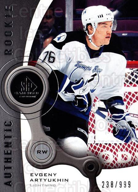 2005-06 Sp Game Used #173 Evgeny Artyukhin<br/>1 In Stock - $5.00 each - <a href=https://centericecollectibles.foxycart.com/cart?name=2005-06%20Sp%20Game%20Used%20%23173%20Evgeny%20Artyukhi...&quantity_max=1&price=$5.00&code=438692 class=foxycart> Buy it now! </a>