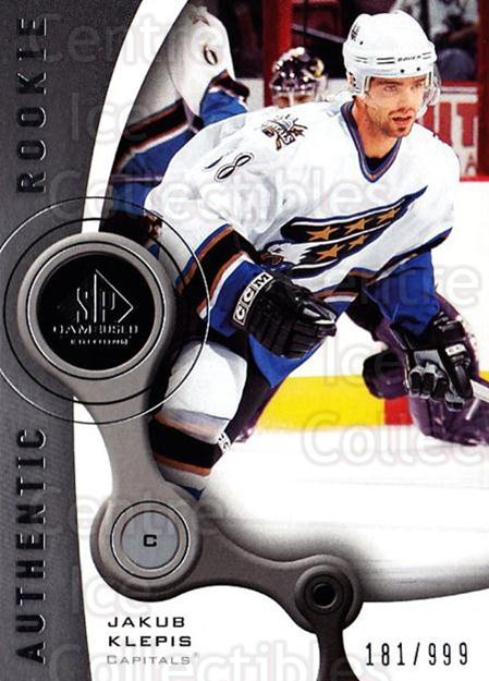 2005-06 Sp Game Used #179 Jakub Klepis<br/>1 In Stock - $5.00 each - <a href=https://centericecollectibles.foxycart.com/cart?name=2005-06%20Sp%20Game%20Used%20%23179%20Jakub%20Klepis...&quantity_max=1&price=$5.00&code=438698 class=foxycart> Buy it now! </a>