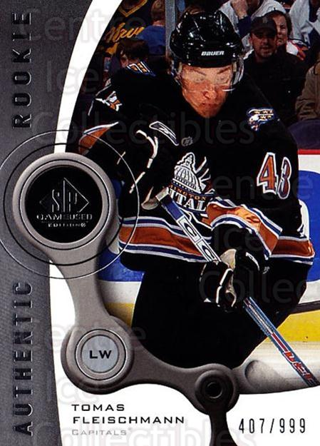 2005-06 Sp Game Used #190 Tomas Fleischmann<br/>1 In Stock - $5.00 each - <a href=https://centericecollectibles.foxycart.com/cart?name=2005-06%20Sp%20Game%20Used%20%23190%20Tomas%20Fleischma...&quantity_max=1&price=$5.00&code=438709 class=foxycart> Buy it now! </a>