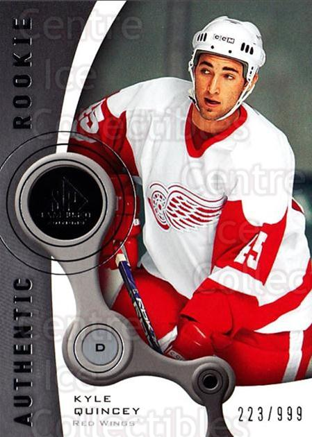 2005-06 Sp Game Used #207 Kyle Quincey<br/>2 In Stock - $5.00 each - <a href=https://centericecollectibles.foxycart.com/cart?name=2005-06%20Sp%20Game%20Used%20%23207%20Kyle%20Quincey...&quantity_max=2&price=$5.00&code=438726 class=foxycart> Buy it now! </a>