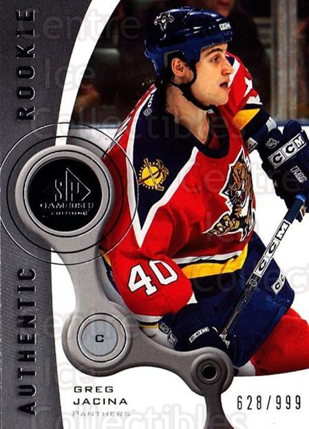 2005-06 Sp Game Used #212 Greg Jacina<br/>3 In Stock - $5.00 each - <a href=https://centericecollectibles.foxycart.com/cart?name=2005-06%20Sp%20Game%20Used%20%23212%20Greg%20Jacina...&quantity_max=3&price=$5.00&code=438731 class=foxycart> Buy it now! </a>