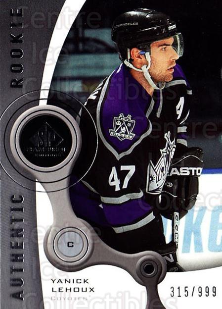 2005-06 Sp Game Used #214 Yanick Lehoux<br/>1 In Stock - $5.00 each - <a href=https://centericecollectibles.foxycart.com/cart?name=2005-06%20Sp%20Game%20Used%20%23214%20Yanick%20Lehoux...&quantity_max=1&price=$5.00&code=438733 class=foxycart> Buy it now! </a>