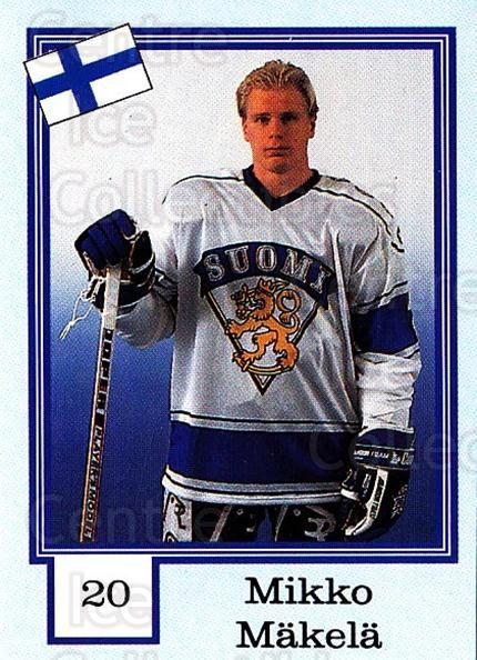 1992 Finnish Semic Stickers Snickers Backs #20 Mikko Makela<br/>1 In Stock - $3.00 each - <a href=https://centericecollectibles.foxycart.com/cart?name=1992%20Finnish%20Semic%20Stickers%20Snickers%20Backs%20%2320%20Mikko%20Makela...&quantity_max=1&price=$3.00&code=438979 class=foxycart> Buy it now! </a>