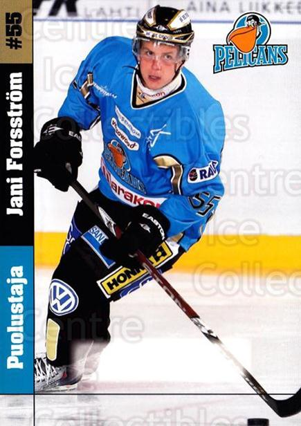2009-10 Finnish Pelicans Postcards #2 Jani Forsstrom<br/>2 In Stock - $3.00 each - <a href=https://centericecollectibles.foxycart.com/cart?name=2009-10%20Finnish%20Pelicans%20Postcards%20%232%20Jani%20Forsstrom...&quantity_max=2&price=$3.00&code=439249 class=foxycart> Buy it now! </a>