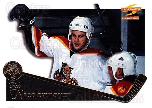 1995-96 Summit #105 Rob Niedermayer<br/>5 In Stock - $1.00 each - <a href=https://centericecollectibles.foxycart.com/cart?name=1995-96%20Summit%20%23105%20Rob%20Niedermayer...&quantity_max=5&price=$1.00&code=44040 class=foxycart> Buy it now! </a>
