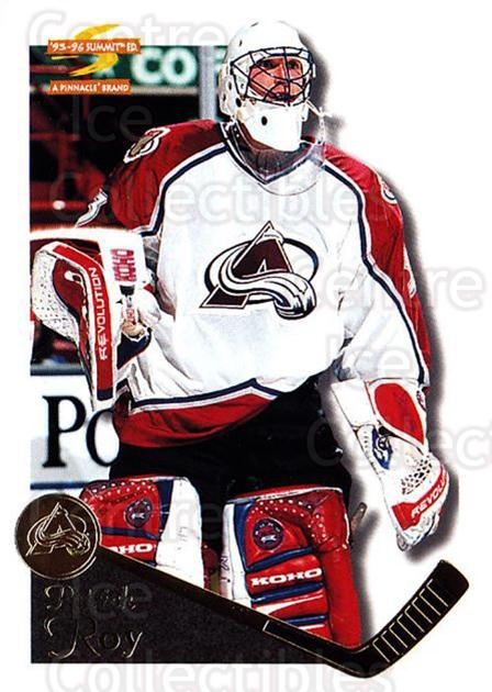 1995-96 Summit #149 Patrick Roy<br/>1 In Stock - $3.00 each - <a href=https://centericecollectibles.foxycart.com/cart?name=1995-96%20Summit%20%23149%20Patrick%20Roy...&price=$3.00&code=44087 class=foxycart> Buy it now! </a>