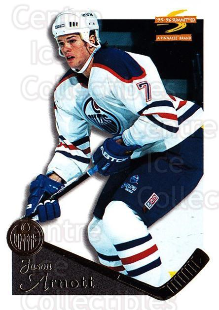 1995-96 Summit #18 Jason Arnott<br/>5 In Stock - $1.00 each - <a href=https://centericecollectibles.foxycart.com/cart?name=1995-96%20Summit%20%2318%20Jason%20Arnott...&quantity_max=5&price=$1.00&code=44121 class=foxycart> Buy it now! </a>
