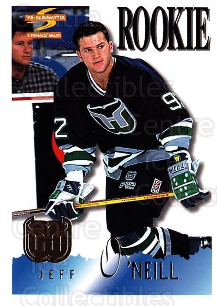 1995-96 Summit #183 Jeff O'Neill<br/>5 In Stock - $1.00 each - <a href=https://centericecollectibles.foxycart.com/cart?name=1995-96%20Summit%20%23183%20Jeff%20O'Neill...&quantity_max=5&price=$1.00&code=44125 class=foxycart> Buy it now! </a>